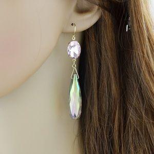 Rhinestone long drop dangle earrings
